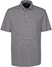 Oxford America Calhoun Short Sleeve Stripe Polo Black, XX-Large