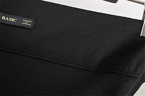 JOTHIN Damen Modisch Unregelmäßige Jerseyrock Knielang Fishtail Rock Paket-Hüfte Schwarz
