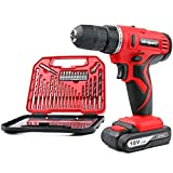 Hi-Spec 18V Pro Cordless Combo Drill Driver with 1500 mAh Lithium-Ion Battery, 2 Gears, 19 Position Keyless Chuck, Variable Speed Switch & 30 Piece Drill and Screwdriver Bit Accessory Set in Compact Storage Case