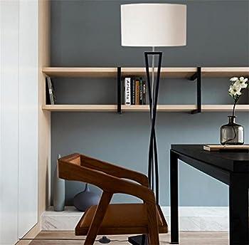 Atmko®black Reading Floor Lamp Fabric Lampshade Wrought-iron Lamp Base Living Room Bedroom Bedside Modern Lighting Decor 3