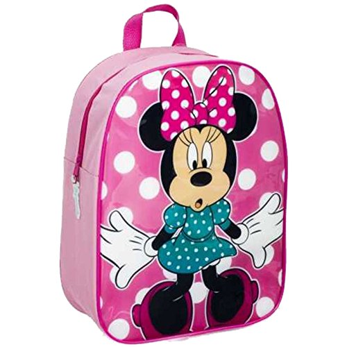 Image of Disney Minnie Mouse Backpack School Bag Rucksack Girls Back to School Officially Licensed Product