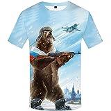 Russland T-Shirt Bär Shirts Krieg Tshirt Militär Kleidung Gun Tees Tops Männer 3D T-Shirt Cool Tee 3D t Shirt 01 XL