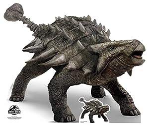 Star Cutouts Ltd SC1283 - Figura decorativa de dinosaurio y coleccionista (103 cm), diseño de Ankylosaurio del Mundo Jurásico, multicolor