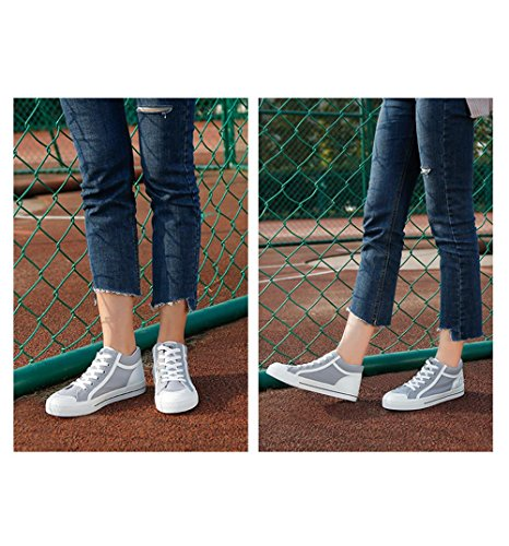 ALUK- Printemps Chaussures Occasionnels Coréen Bottom Bas Blanc Chaussures ( couleur : Gray , taille : 37 ) Gray
