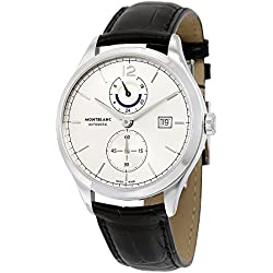 Montblanc Heritage Chronmetrie Dual Time Automatic Silver Dial Mens Watch 112540