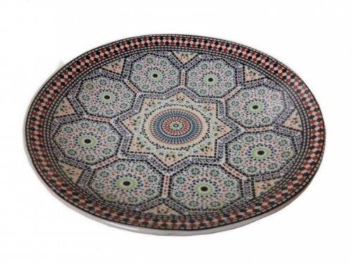 An Oriental Platter Diameter 15 cm Mosaic