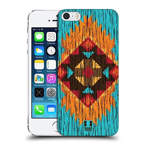 Head Case Designs Triangle Bois De Construction Copies Tribales Étui Coque D'Arrière Rigide Pour Apple iPhone 5c Flamme