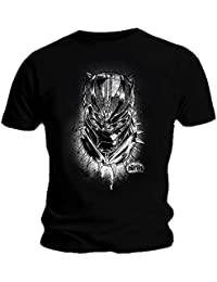 Marvel Official T Shirt Black Panther Movie 'Spray' Headshot All Sizes