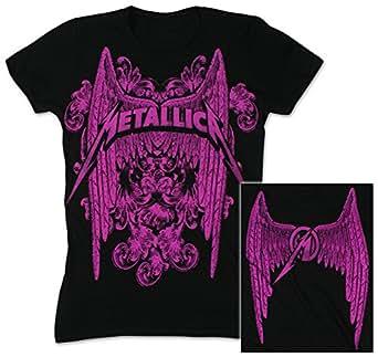Metallica - Geflügelte treten junge Frauen T-Shirt, Medium, Black