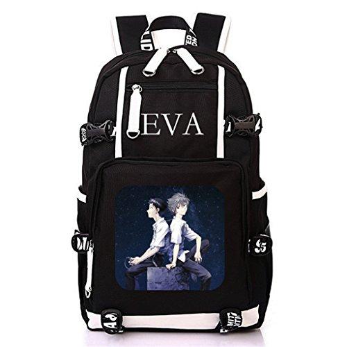 Siawasey Anime Eva Neon Genesis Evangelion Cosplay Rucksack Daypack Bookbag Laptop Schultasche, 9, Large