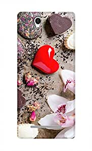 SWAG my CASE Printed Back Cover for Sony Xperia C3