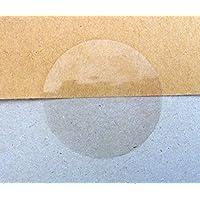 Minilabel Autocollants ronds à joints brillants de 25 mm - Transparent clair (Pack de 102 étiquettes)