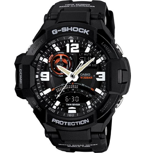 7749eb3eafd Casio G-Shock GA-1000-1A Aviation Series Men s Luxury Watch - Black   One  Size