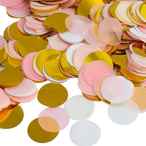 Kesote Multicolor Confeti de Papel de Forma Redonda 10000 Piezas de Decoración Confeti de 4 Colores para Boda, Cumpleaños, Fiesta …