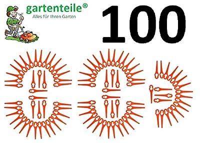 100 Kunststoffmesser passend für BOSCH ALM28 Luftkissen Rasenmäher Messer Luftkissenmäher Ersatzmesser
