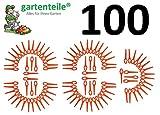100 Ersatz Messer Passend für Güde RT 250/18 Li Ion Akku Rasentrimmer/Messer / Messerchen/Plastikmesser / Trimmermesser