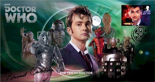 Dr Doctor Who BBC Official 50th Anniversary Limited Edition Bernard Cribbins unterzeichnet Ersttagsbrief - Der Zehnte Doktor - David Tennant -