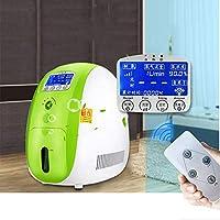 WFWPY Generador de oxígeno portátil, generador de oxígeno de 1-5L / min, generador de oxígeno de Alta concentración silencioso y silencioso Adecuado para Uso doméstico purificador de Aire