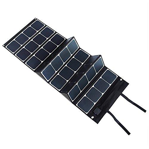 EBAT 120W Faltbares Solarpanel SunPower Solar Ladegerät (5V USB mit iSolar Technologie + 18V DC Ausgang) für Laptop, Tablet, iPad, iPod, Smartphone, iPhone (schwarz)