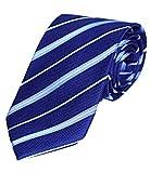 MONETTI Cravate - Bleu 100 - % soie - Livrée dans coffret cadeau exclusiv !