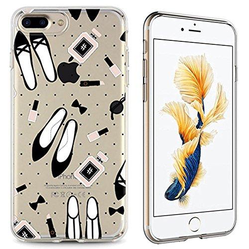 Panelize iPhone 7 Plus Nagellack Hülle Schutzhülle Handyhülle Hard Case Cover Kratzfest Rutschfest Durchsichtig Klar (Schrift) Nagellack Accessoires