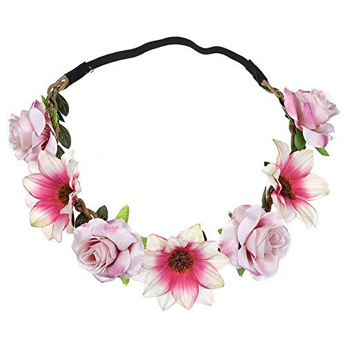 BoyYang Diademas Mujeres Hermosa Moda Terciopelo Rosa