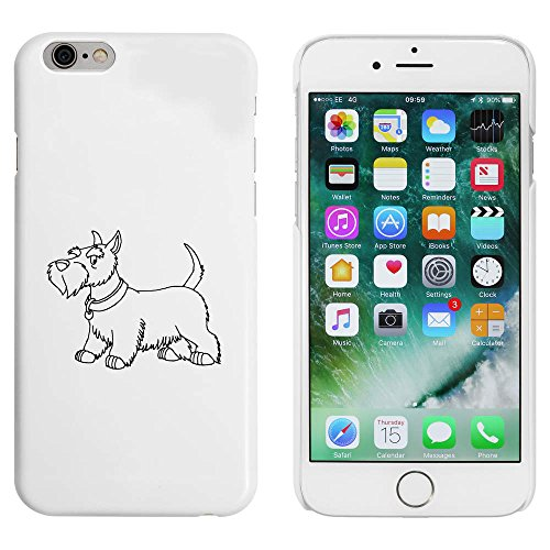 Azeeda Weiß 'Scottish Terrier' Hülle für iPhone 6 u. 6s (MC00085309) -
