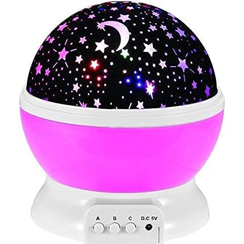Emwel 360 gradi Rotante Proiettore per Bambini Lampada Stelle Luna proiettore Kid Camera Lampada per Childen regalo