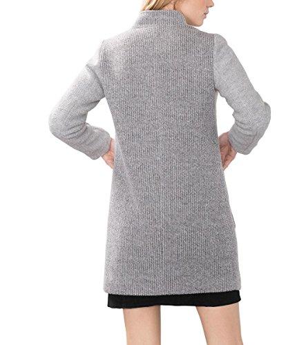 Edc By Esprit Damen Mantel Grau Light Grey 040 Grafereu