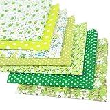 Souarts 7 Stück Stoffpakete DIY Kleine Blume Muster