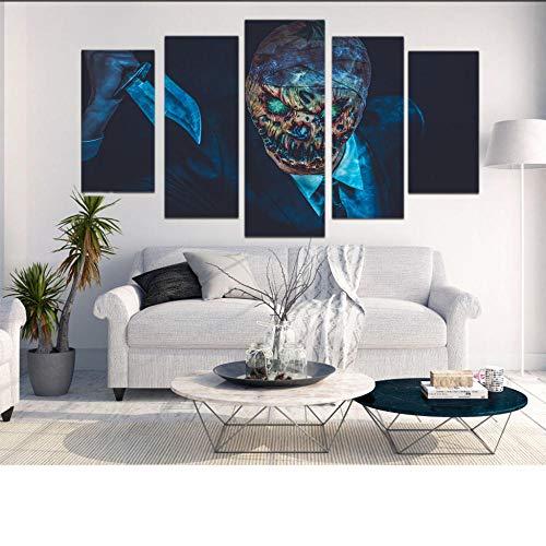 NHFGJ Bilder 150x80 cm - Schreckliche Dress up - Leinwandbilder - Vlies Leinwand - Fünf Stücke - Wandbilder - Kunstdrucke - Kein Rahmen