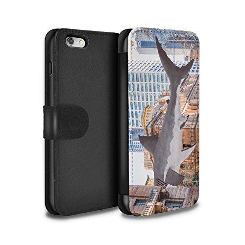 Stuff4 Coque/Etui/Housse Cuir PU Case/Cover pour Apple iPhone 6 / Voyage Par La Route Design / Vers Bas Sous Collection Attaque de Requin