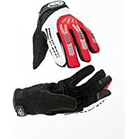 Aero Sport® AeroJumpTM BMX Guanti Rosso/nero/bianco Medium - Dell'automobile Del Gancio