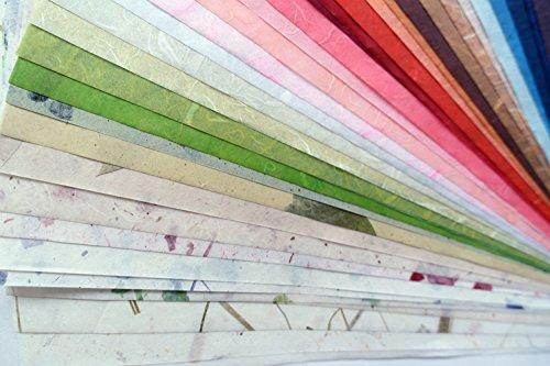 4021,6x 27,9cm sortiert Farben Hochzeit Geschenk Scrapbook Karte machen Craft Mulberry Papier handgefertigt gemischt verschiedene Farbe Packung Album Buch Seiten Tissue Farbige faserige Craft (Mulberry Seidenpapier)