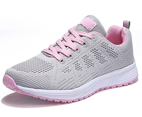 scarpe di stoffa signora scarpe scarpe da corsa della maglia traspirante movimento studentesco autunno scarpe signora ascensore light gray