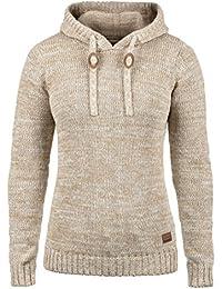 fae871b0a356ed DESIRES Philla Damen Strickpullover Grobstrick Pullover Mit Kapuze Aus 100%  Baumwolle