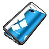 Custodia Honor 10, Adsorbimento Magnete [Protezione per Telaio in Metallo + Vetro] - Sensibilità -Trasparente Cristallino per Huawei (Honor 10, Nero)