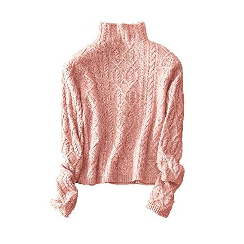 c4857697a430 Damen Mode Kaschmir Pullover-Herbst und Winter Kaschmir Pullover (Rosa,  Large)
