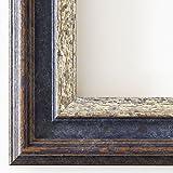 Holz - Bilderrahmen Trento Blau Silber 5,4 - 50x70 - WRF mit Normalglas - 100 Größen