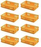 8x Bäckerkiste 60 x 40 x 13 gelb * Gemüsekiste durchbrochen Eurobehälter Süßwaren Bäcke
