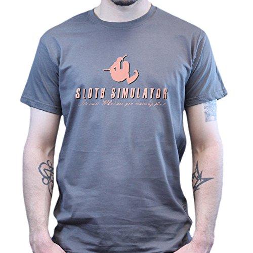 Goat Sloth Simulator T-shirt Dunkelgrau