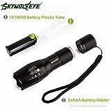 LED Flashlight, Familizo Tactical LED Flashlight G700 SkyWolfeye X800 Zoom Military Grade Torch