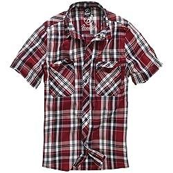 Brandit Hombres Roadstar Camisa Rojo tamaño L