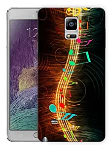 """Humor Gang Music String Printed Designer Mobile Back Cover For """"Samsung Galaxy Note 4"""" (3D, Matte Finish, Premium Quality, Protective Snap On Slim Hard Phone Case, Multi Color)"""