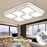 MYHOO 78W Modern Design LED Deckenlampe Dimmbar mit Fernbedienung LED Deckenleuchte Wohnzimmer Lampe Schlafzimmer Küche Leuchte [Energieklasse A++]