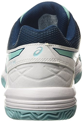 Asics Gel-Padel Pro 3 SG - Scarpe da Tennis Donna, Bianco (White/Pool Blue/Blue Steel 0139), 35 1/2 EU