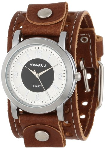 Nemesis Men's BSTH094K Brown Collection Retro Dual Tone Watch