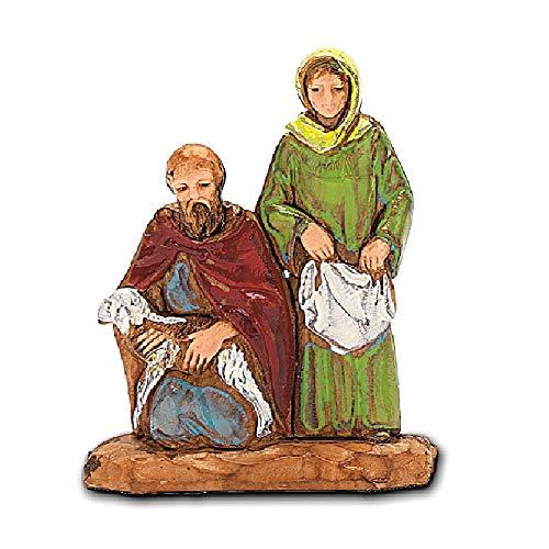 Moranduzzo donna con pastore inginocchiato, 3.5 cm
