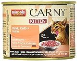 animonda Carny Kitten Katzenfutter, Nassfutter für junge Katzen, aus Rind, Kalb + Huhn (12 x 200 g)