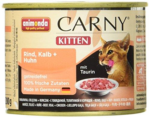 Animonda 83810 Katzenfutter Carny Kitten Mix aus 4 Varietäten, 12er Pack (12 x 200 g)